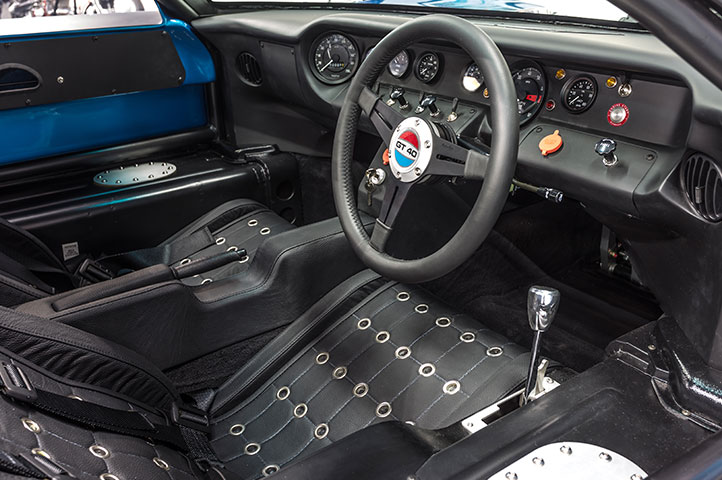 Interior of a 2017 Gulf GT40 for sale